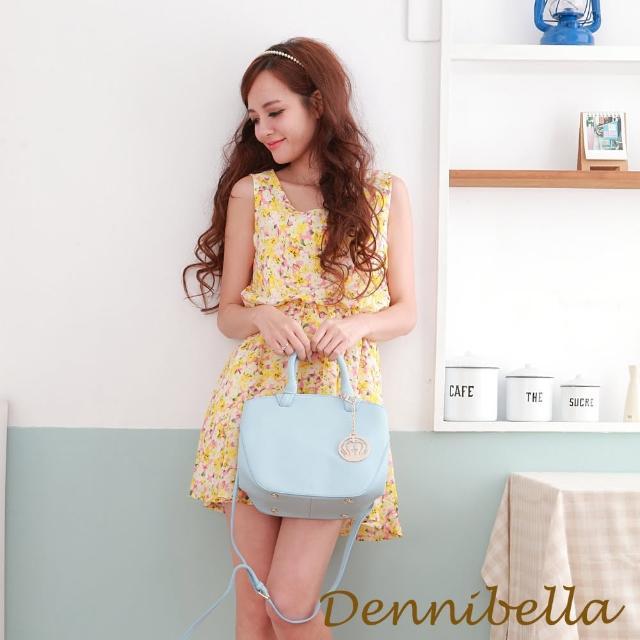 【Dennibella 丹妮貝拉】真皮手提斜背包-藍(4D1716001546)