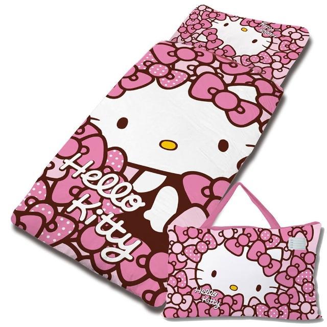 【享夢城堡】HELLO KITTY 我的Ribbon時尚系列-鋪棉兩用兒童睡袋(粉)