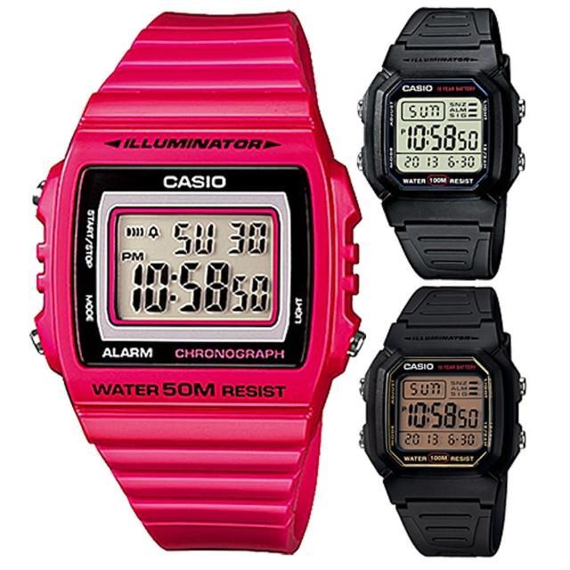 【CASIO】大螢幕熱賣電子錶(三款任選)
