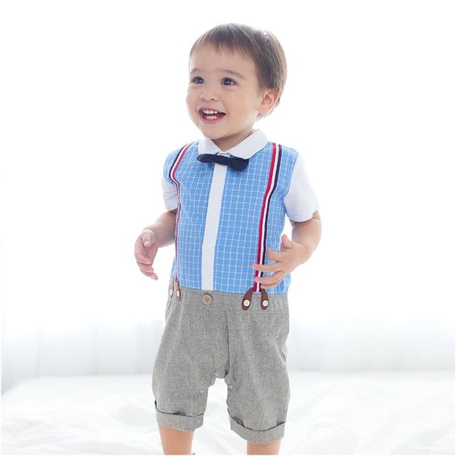 【baby童衣】連身衣 短袖襯衫吊帶爬服 60242(共1色)