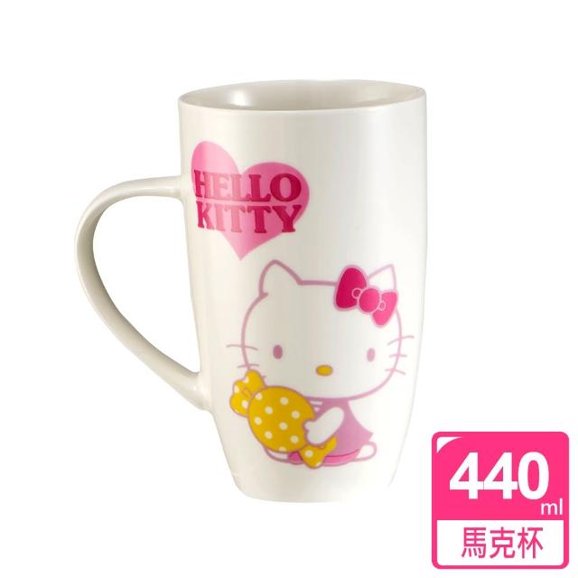 【HELLO KITTY】曲線馬克杯(440ml)