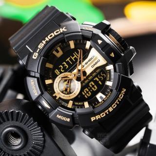 【G-SHOCK】金屬光澤多層次錶盤設計腕錶-金面(GA-400GB-1A9DR)