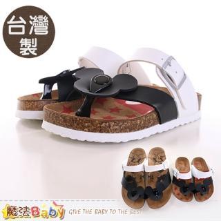 【魔法Baby】女童涼鞋 台灣製米奇正版親子鞋款兒童款(sh9618)
