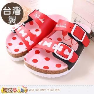 【魔法Baby】台灣製專櫃款迪士尼米妮涼拖鞋(sh9633)