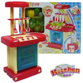 【酷博士】手提式聲光音樂廚具台組008-56(藍色)