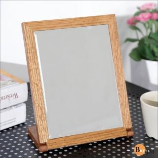 【BuyJM】典雅實木長型桌上鏡(2色)
