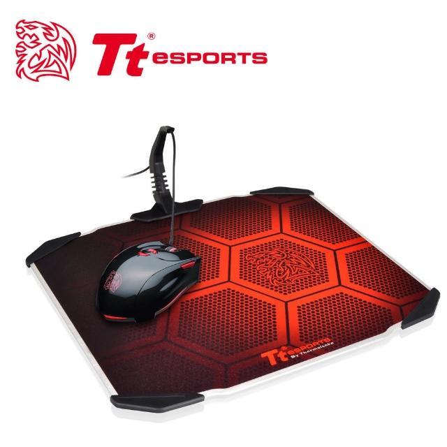 【Tt eSPORTS曜越】聖龍鱗DRACONEM2016雙面操控鋁板電競滑鼠墊(MP-DCM-BLKHMS-01)