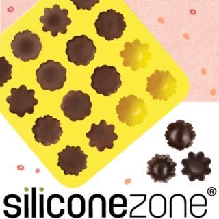 【Siliconezone】施理康耐熱小花造型巧克力模/冰模(黃色)