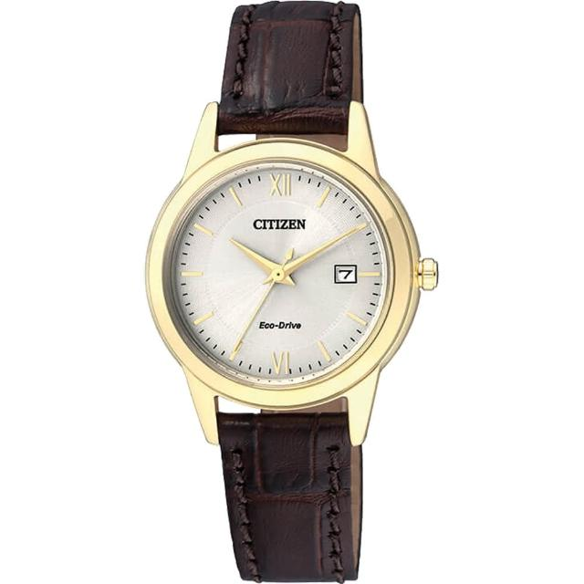 【CITIZEN】Eco-Drive光動能城市女錶-金/29mm(FE1082-13A)