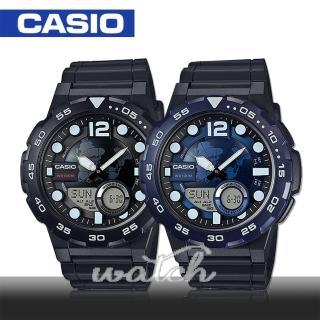 【CASIO 卡西歐】多功能運動錶 30組電話簿 防水 旅人自由行最愛 鏡面4.7cm(AEQ-100W)