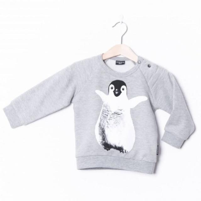 【荷蘭 Lucky No.7】長袖上衣 - 灰底企鵝(ZAL700D6)