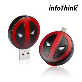 【InfoThink】DeadPool 死侍OTG雙頭造型隨身碟(16GB)