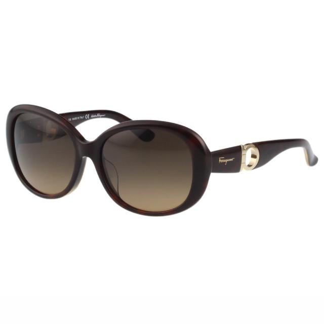 【Salvatore Ferragamo】- 時尚優雅太陽眼鏡(琥珀色)讓你愛不釋手
