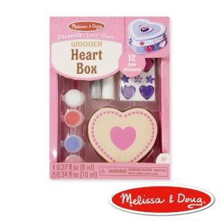 【美國瑪莉莎 Melissa & Doug】DIY手作 - 木製愛心珠寶盒