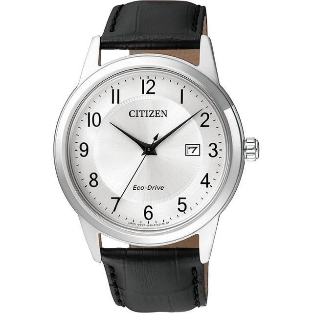 【CITIZEN】Eco-Drive光動能石英錶-銀/40mm(AW1231-07A)