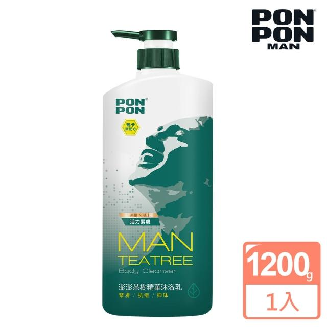 【澎澎MAN】植系沐浴乳 茶樹精華淨化-1200g