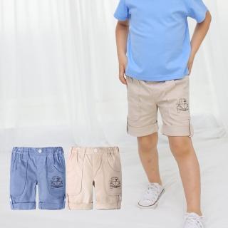 【baby童衣】兒童短褲 帥氣可反摺休閒五分褲60070(共2色)