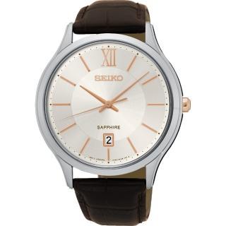【SEIKO】城市簡約美學時尚腕錶-玫瑰金時標x咖啡/42mm(7N42-0GG0K SGEH55P1)