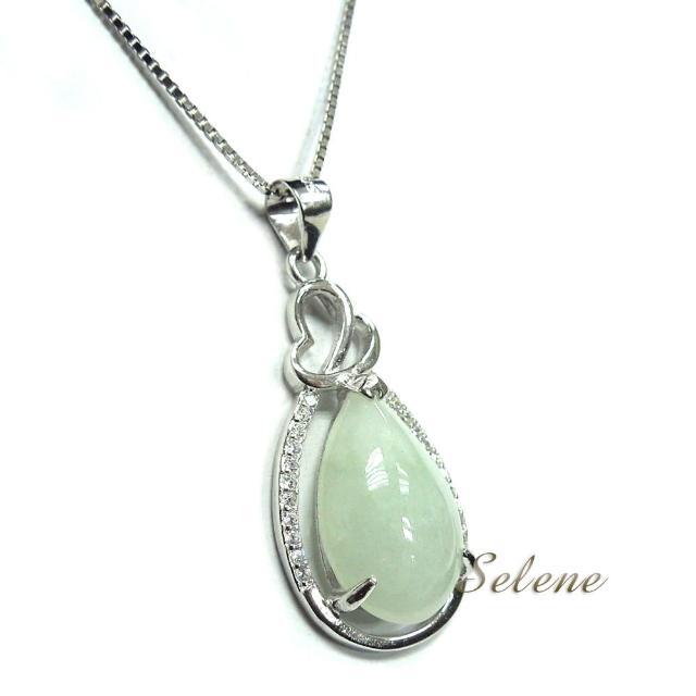 【Selene珠寶】心心相印翡翠項鍊(A貨翡翠)