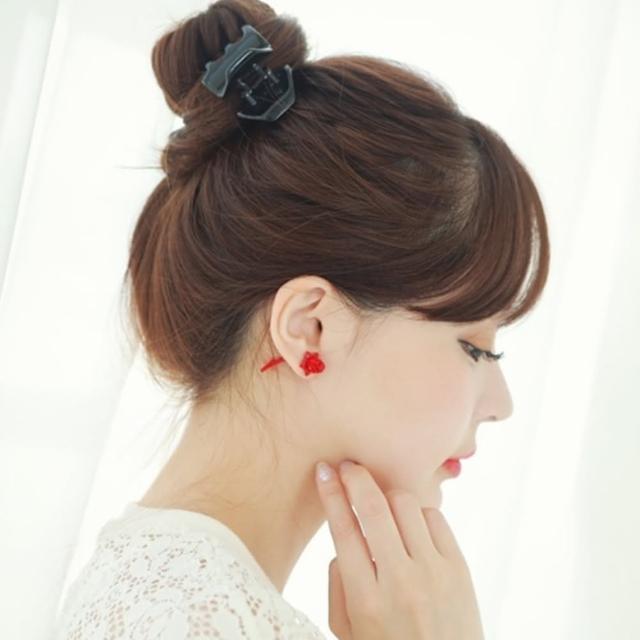 【梨花HaNA】韓國立體鏗鏘玫瑰冷冽雙面耳環
