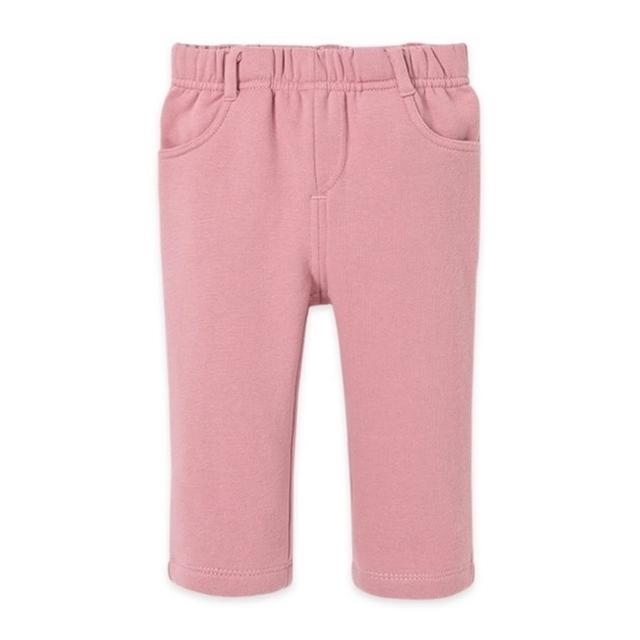 【Dave Bella】內刷毛棉質長褲 - 深粉素色(DB1647)