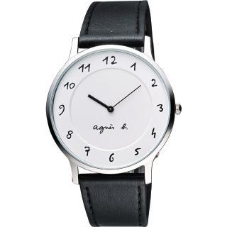【agnes b】設計師手繪風格時尚腕錶(39mm/BJ5004X1/VJ20-K240LB)
