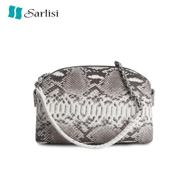 【Sarlisi】珍稀奢華蟒蛇皮鍊帶包(3色可選)