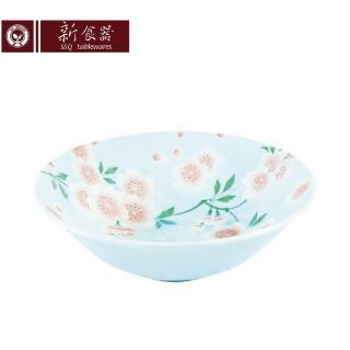 【新食器】日本製山粉櫻4.5吋小缽(藍色)