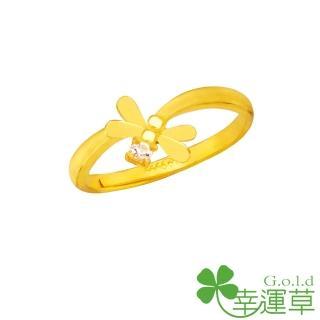 【幸運草clover gold】傾倒 鋯石+黃金 女戒