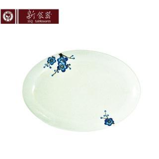 【新食器】蘭梅花香手繪12吋魚盤(大盤子)