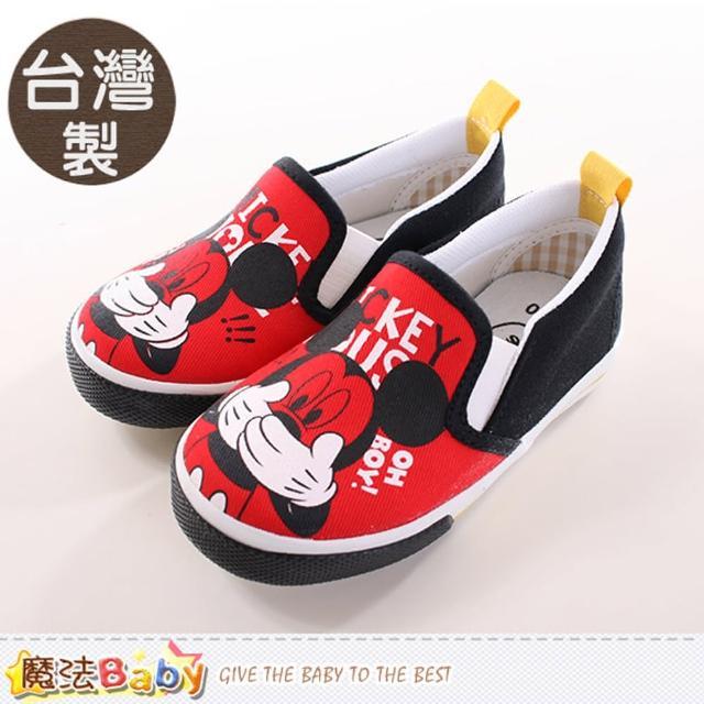 【魔法Baby】台灣製專櫃款迪士尼米奇帆布鞋(sh9673)