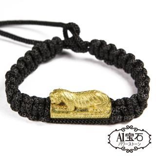 【A1寶石】泰國-咬錢虎手鍊-綁繩大黑虎-中性款(含開光加持)
