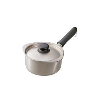 【柳宗理】霧面不鏽鋼單手鍋-16cm(附不鏽鋼蓋)