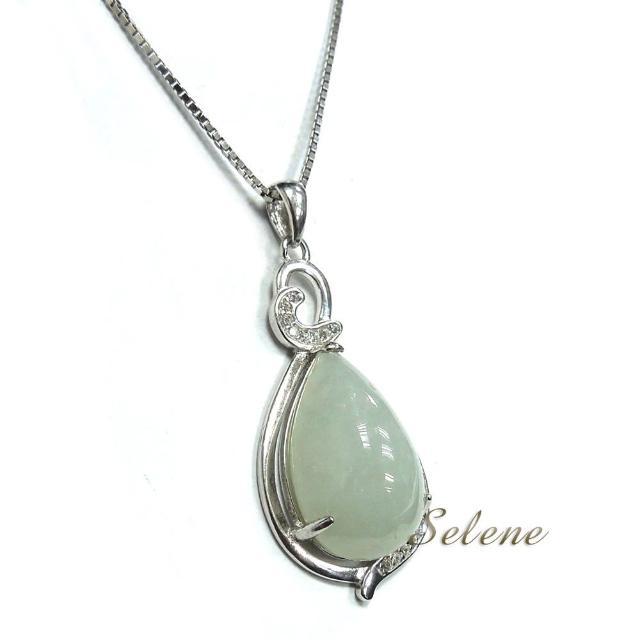 【Selene珠寶】珍愛一生冰地翡翠項鍊(A貨翡翠)