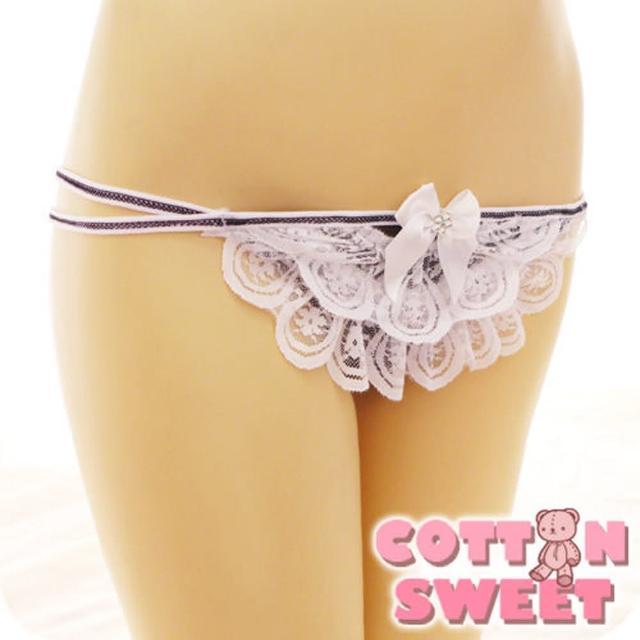 【棉花甜】千層蕾絲蛋糕 丁字褲(白 B-285)