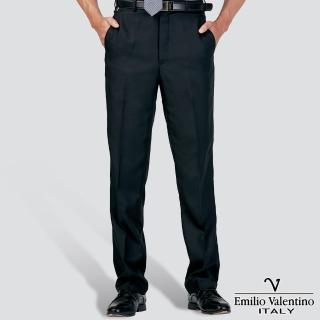 【Emilio Valentino 范倫提諾】吸濕排汗平面西褲(黑)