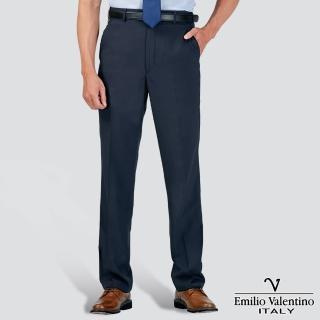 【Emilio Valentino 范倫提諾】吸濕排汗條紋平面西褲(藍)