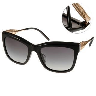 【BURBERRY太陽眼鏡】Gabardine系列經典女款(黑#BU4207F 30018G)