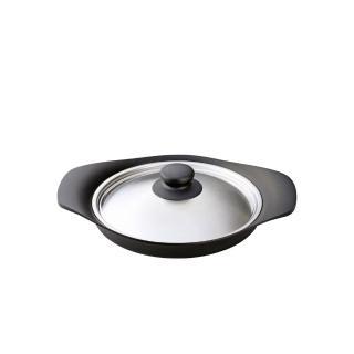 【柳宗理】南部鐵器橫紋煎鍋(附不鏽鋼蓋)