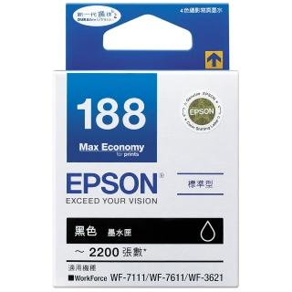 【EPSON】NO.188 原廠黑色墨水匣(T188150)