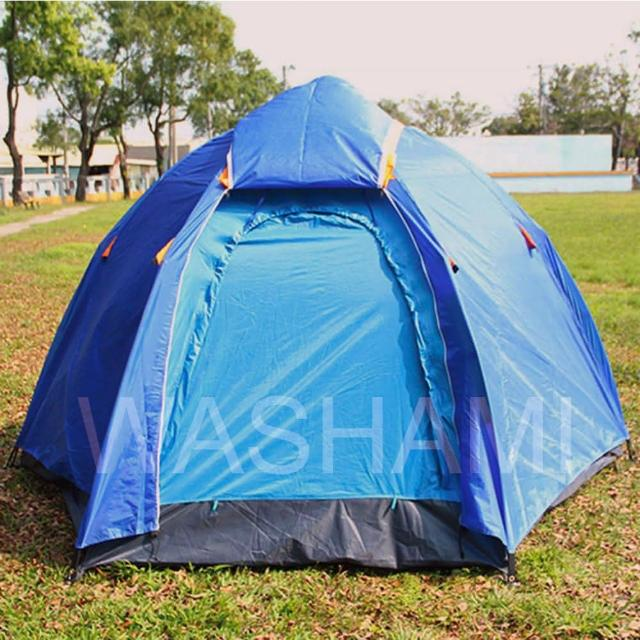 【WASHAMl】自動帳篷 外帳二層可分離(6-8人)