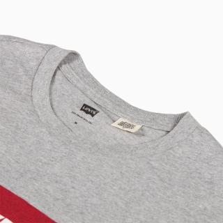 【LEVIS】男款 短袖T恤/ 經典LOGO TEE 灰-人氣新品