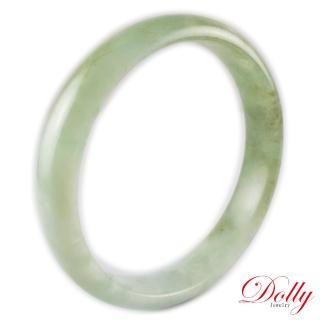 【Dolly】緬甸 飄花A貨翡翠玉鐲-113(手圍18)