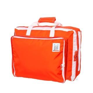 【MOKUYOBI】L.A 空運繽紛多功能筆電手提後背包/附贈電繡章/ - 橘紅色(Bedford Bag)