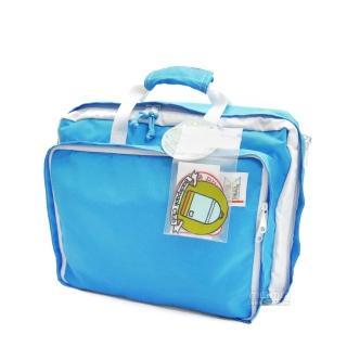 【MOKUYOBI】L.A 空運繽紛多功能筆電手提後背包/附贈電繡章/ - 天空藍(Bedford Bag)