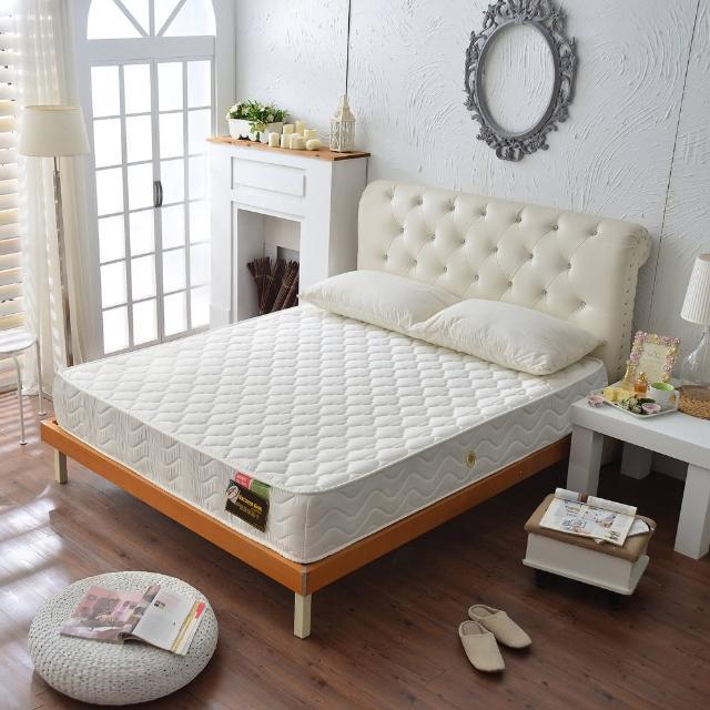 【睡芝寶】飯店級柔舒3M抗菌防潑水抗菌獨立筒床墊(雙人5尺)