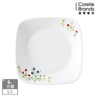 【CORELLE 康寧】6吋方盤-春漾花朵(2206)