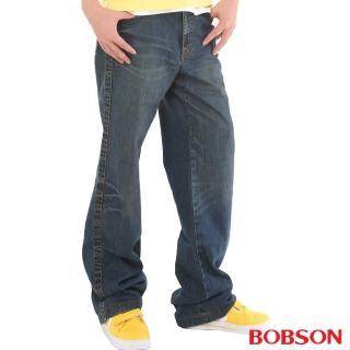 【BOBSON】男款貓鬚大直筒牛仔褲(1713-53)