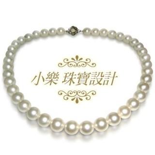 【小樂珠寶】3AAA頂級漂亮10-10.5mm天然珍珠項鍊(白色)