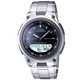 【CASIO】時尚簡潔風雙顯指針錶(AW-80D-1A)